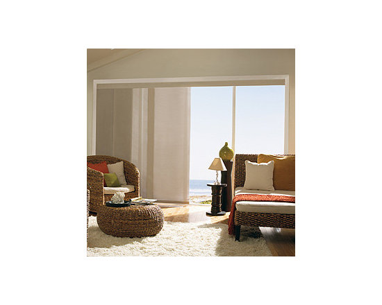 Levolor - Levolor Panel Track Blinds: Solar Screen 10 - Levolor panel track blinds offer a versatile solution for larger windows or as a room divider.  Protect your view and reduce glare with this 10% openness solar screen material for better view through and slightly more incoming light.