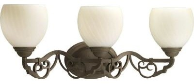 Thomasville Lighting Meeting Street Collection Roasted Java 3-light Vanity Fixtu contemporary-ceiling-fans