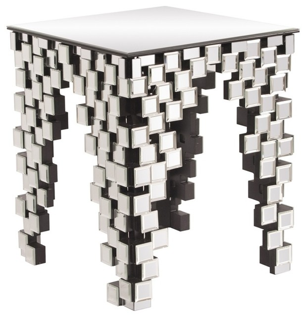 Howard Elliott Geometric Mirrored End Table modern-side-tables-and-end-tables