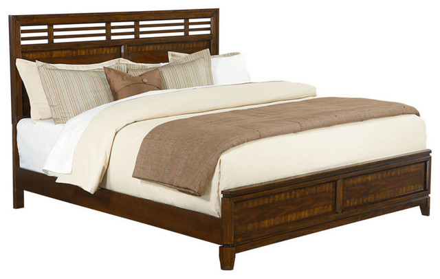 Standard Furniture Avion Platform Bed in Cherry and Walnut - King ...