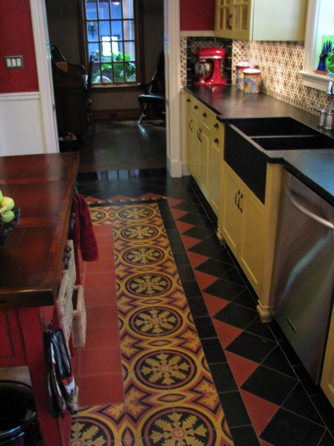 Spanish Colonial Revival Kitchen Traditional Kitchen