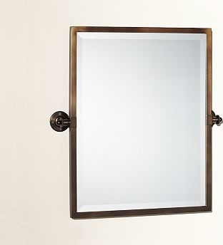 kensington pivot mirror rectangle antique bronze finish traditional bathroom mirrors by