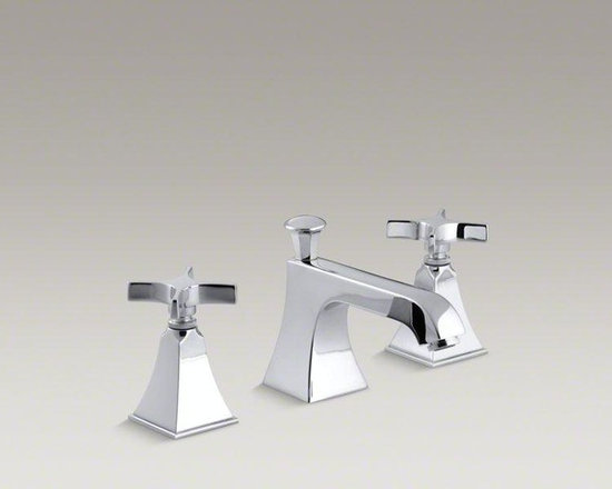 KOHLER Polished Chrome Memoirs® Widespread Bathroom Sink Faucet - Memoirs faucets with Stately design offer a refined elegance for your bath or powder room. Embodying the collection's sophisticated styling, this Memoirs bathroom sink faucet is outfitted with a classic spout and ergonomic cross handles for easy operation. This faucet comes with easy-to-install and leak-free UltraGlide valves. A pop-up drain and tailpiece complete the set.