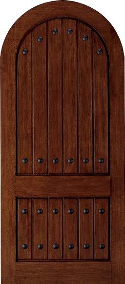 Jeld Wen A1322 Mahogany Woodgrain Radius Top Panel Door