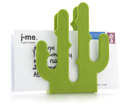 j-me Original Design - If you want to make a bold, funky statement with your letter rack then the Cactus Letter Holder is perfect for you! It looks equally good in the home or office and is a colorful and practical way to liven up your desk. The Cactus Letter Holder is made of hard plastic and is weighted for stability so that you don't have to worry about it being easily knocked over. A textured finish makes sure the Cactus Letter Holder is never an eye sore! It can easily hold up to 15 letters or other documents and it doesn't even need watering!