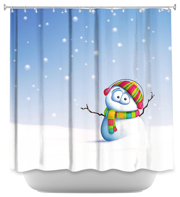 Shower Curtain - Snowman - Contemporary - Shower Curtains - by ...