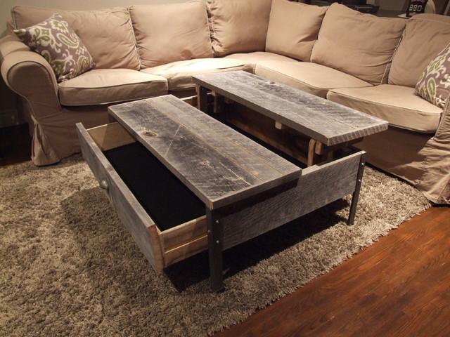 Barn Wood Pop Up Table