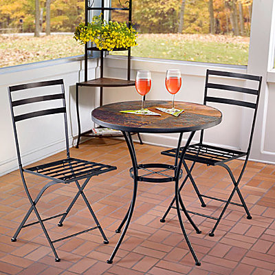 Meridian Slate Bistro Table contemporary-bar-tables