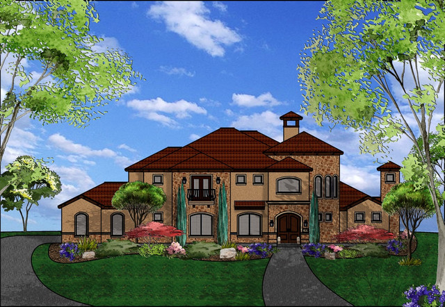 Houston area stucco homes for Houston house elevation
