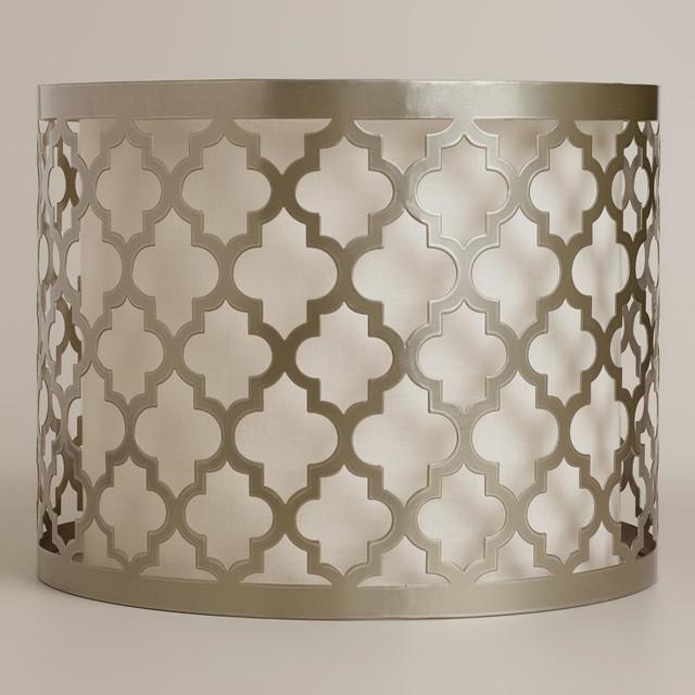 moroccan lattice drum table lamp shade contemporary. Black Bedroom Furniture Sets. Home Design Ideas
