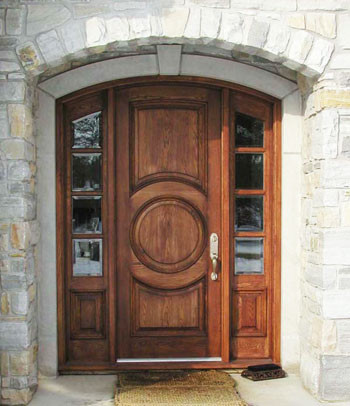 Harvest Creek Millwork Solid Wood Door traditional-front-doors