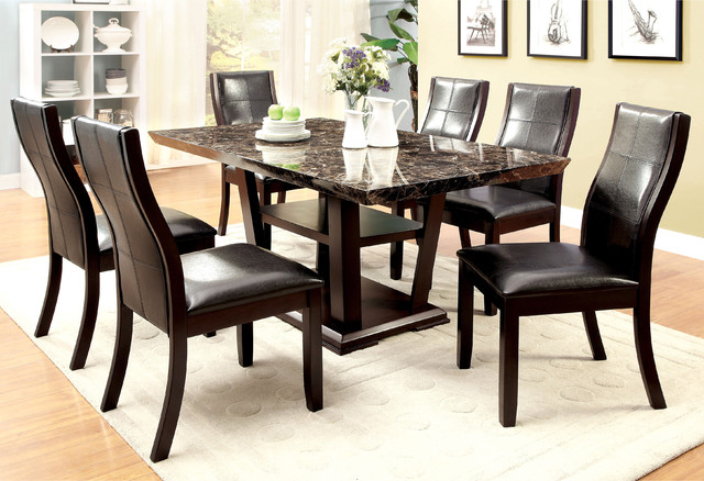 ... Modern Faux Marble Dining Table - Contemporary - Dining Tables - by