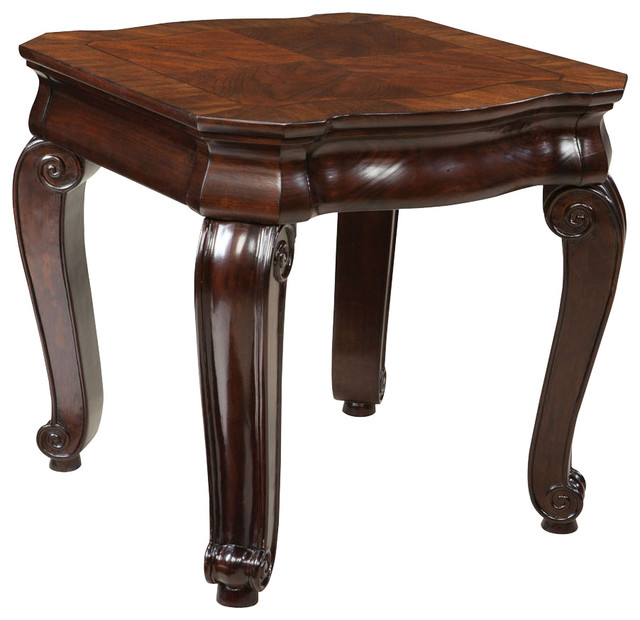 Standard Furniture St.James Rectangular End Table in Warm Tobacco Brown traditional-side-tables-and-end-tables