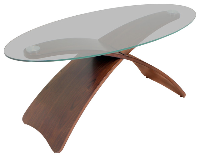 Criss Cross Bent Wood Accent Coffee Table Contemporary Coffee Tables By