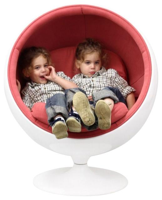 Eero Aarnio Style KIDS Ball Chair in Pink - modern - kids chairs ...
