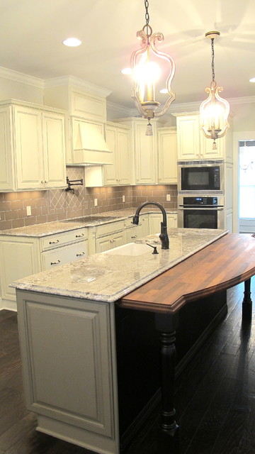 wood top in kitchen traditional-kitchen