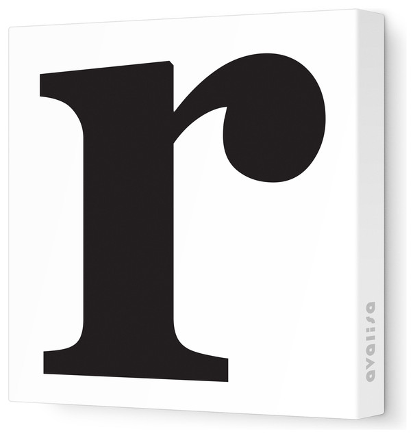 """Letter - Lower Case 'r' Stretched Wall Art, 18"""" x 18 ..."""