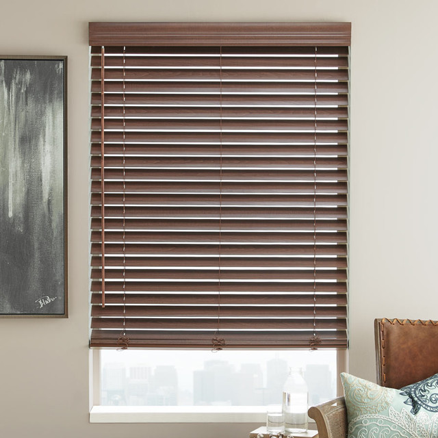 "2"" Designer Basswood Wood Blinds contemporary-window-blinds"