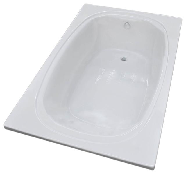 Caravaggio 48 x 78 rect soaking drop in bathtub soaker for Drop in soaker bathtubs