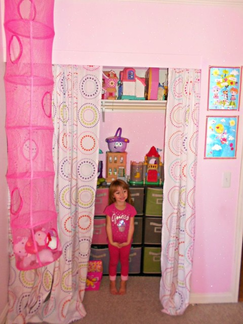 Lalaloopsy Girls bedroom Paint Makeover. Toy Closet eclectic