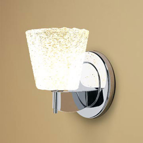 Wall Sconces With Bling : Bling I Chrome One-Light Wall Sconce with White Textured Glass - Modern - Wall Lighting - by ...
