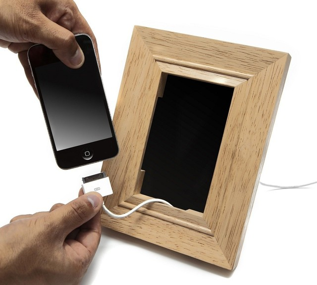 Pirate bathroom decor for kids - Frame Mobile Phone Holder Contemporary Desk Accessories By Lbc