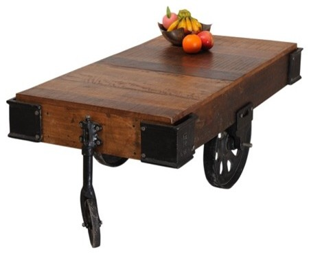 Kaan Reclaimed Wood Coffee Table - contemporary - coffee tables