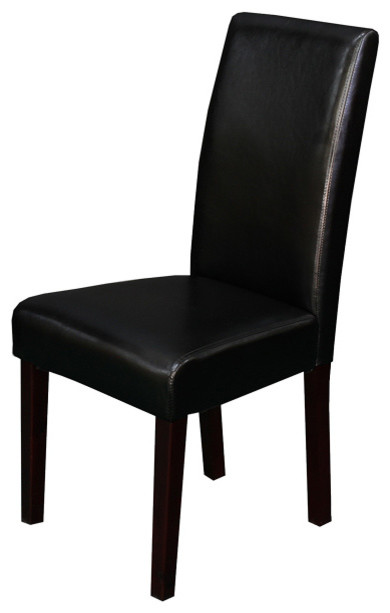 Villa Faux Leather Black Dining Chairs (Set of 2) contemporary-dining-chairs