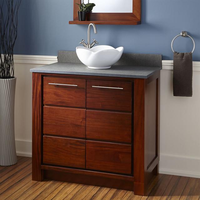 36 venica mahogany vessel sink vanity golden mahogany