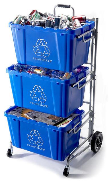 Recycling Bin Cart Traditional Recycling Bins