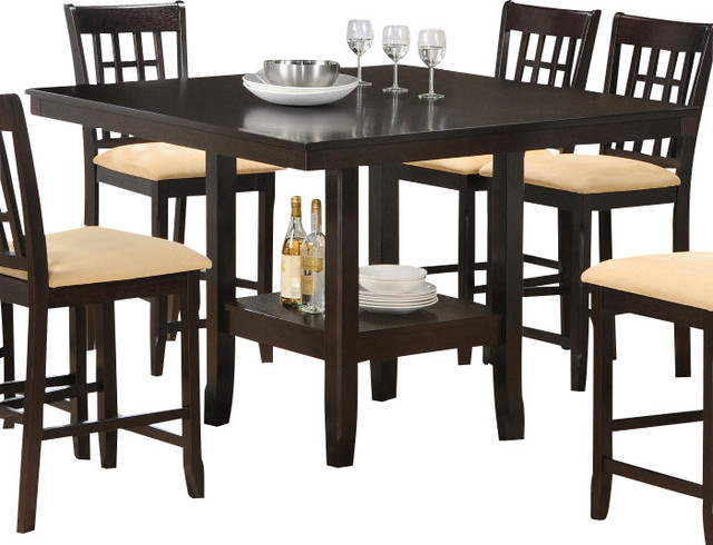 Hillsdale Tabacon 50x50 Counter Height Table with Wine  : traditional dining tables from houzz.com size 640 x 490 jpeg 80kB