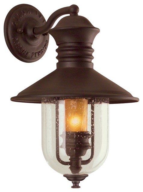"""Old Town Collection 16"""" High Outdoor Wall Light traditional-outdoor-lighting"""