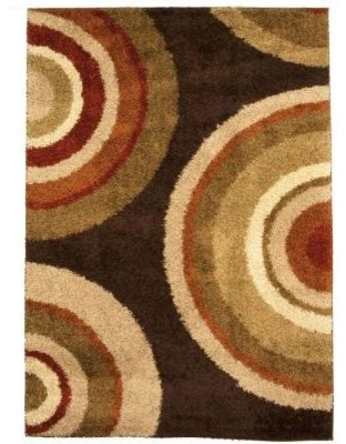 """Area Rug: Eclipse Brown 79"""" x 116"""" contemporary-rugs"""