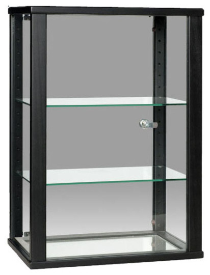 Black Rectangular Counter Top Display Case with Glass Top - Contemporary - Display And Wall ...