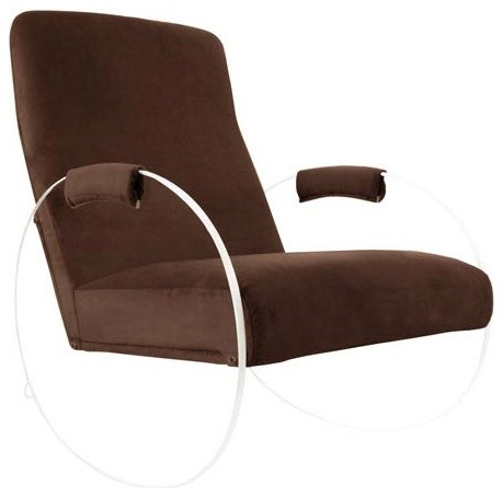 Vetro Rocker, Mocha Suede modern-rocking-chairs-and-gliders