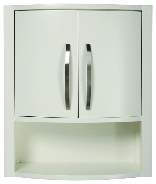 decolav 5255 wht lola wall cabinet in white modern
