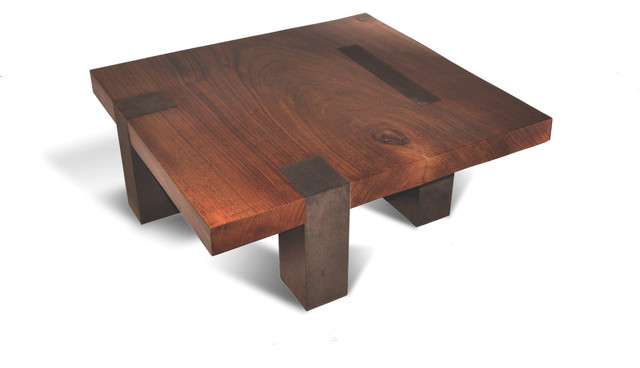 Tamburil Coffee Table Faux Leather Base Contemporary Coffee Tables Miami By Rotsen