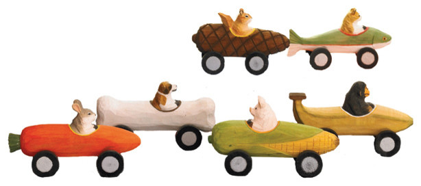 Handmade Derby Critters | Animal Race Cars eclectic-kids-toys