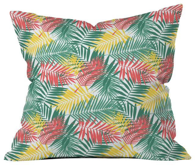 Zoe Wodarz Palm Beachy Throw Pillow tropical-decorative-pillows