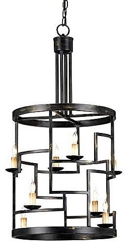 Currey & Company Spyro Foyer Lantern modern-pendant-lighting