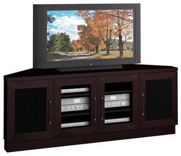 "Contemporary 60"" Corner TV Stand - Modern - Entertainment Centers And ..."