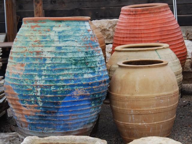 Wine Jars mediterranean-patio-furniture-and-outdoor-furniture