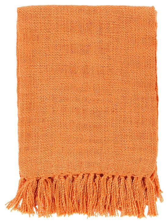 Surya Tilda Burnt Orange Throw Blanket -