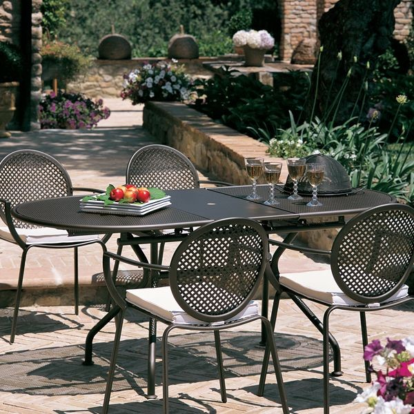Metal Oval Outdoor Extension Dining Table Outdoor Dining Tables Chicago