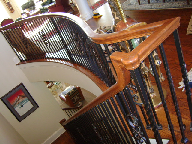 Over the Post Handrail traditional-staircase