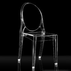 OC Designs 1725-Aire-Black Aire Chair Polycarbonate Chair