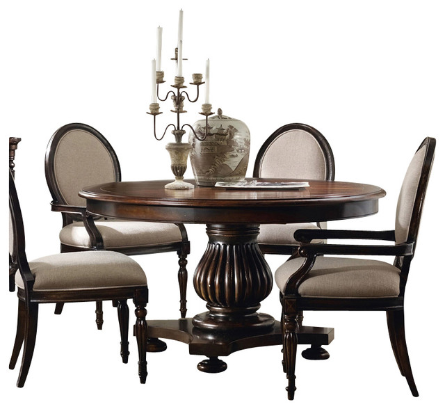 Eastridge 54 Round Pedestal Dining Table Traditional Dining Tables