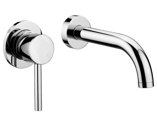 """Modo Bath - Stick SK 006.80 Wall Mounted Single Lever Faucet - Stick SK 006.80 Concealed Single Lever Wall Mounted Bathroom Faucet with 6.9"""" Spout, with Aerator and 3.1"""" Diameter Wall Plate"""