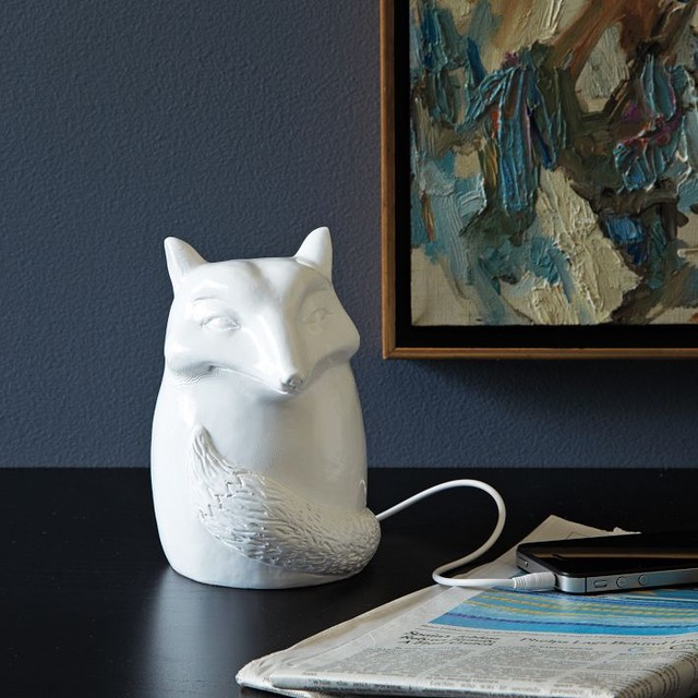 Ceramic Fox Speaker eclectic home electronics