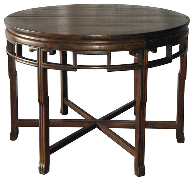 Round Walnut Table Asian Coffee Tables San Francisco By Tansu